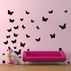 Kit 30 Stickers Papillon