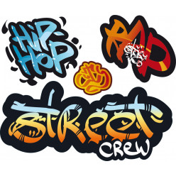 kit 4 Stickers graffitis