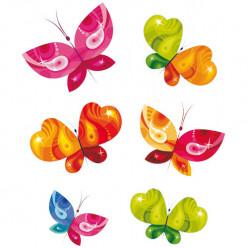 Kit 6 Stickers Papillon