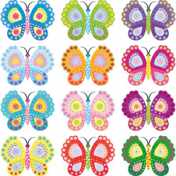 Kit stickers 12 papillons