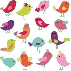 Kit stickers 15 oiseaux