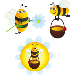 kit Stickers 3 abeilles
