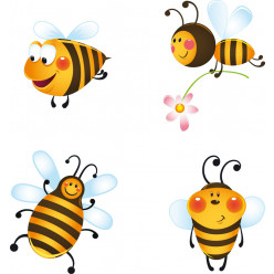 kit Stickers 4 abeilles