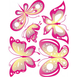 Kit stickers 5 papillons