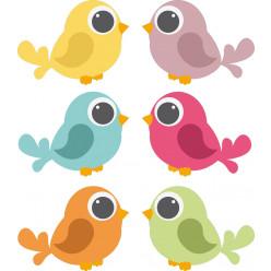 Kit Stickers 6 oiseaux