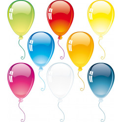 kit Stickers 8 ballons