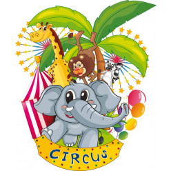 kit Stickers animaux circus