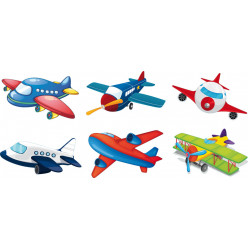 Kit stickers avions