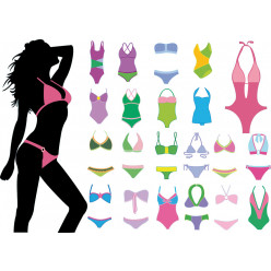kit Stickers maillots de bain