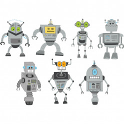 Kit stickers robots