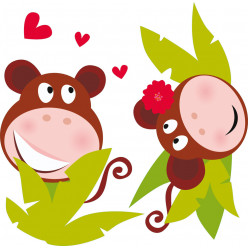 Kit stickers singe amoureux