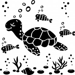 Kit Stickers tortue poissons