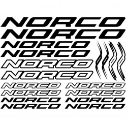 Kit stickers vélo norco bikes