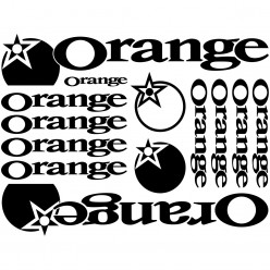Kit stickers vélo orange bikes