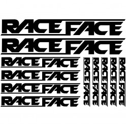 Kit stickers vélo race face bikes