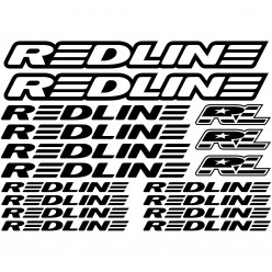 Kit stickers vélo redline bikes