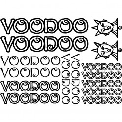 Kit stickers vélo voodoo bikes