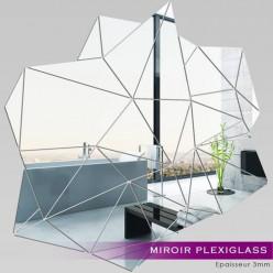 Miroir Plexiglass Acrylique - Blocs Géométriques