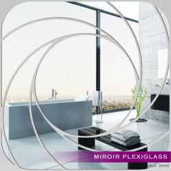 Miroir Plexiglass Acrylique -  Carré Spirales 1