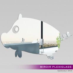 Miroir Plexiglass Acrylique Cochon