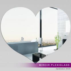 Miroir Plexiglass Acrylique - Coeur