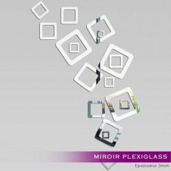 Miroir Plexiglass Acrylique - Design carré