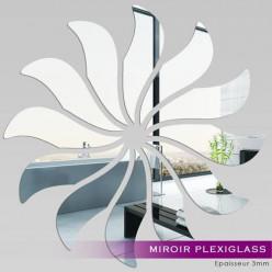 Miroir Plexiglass Acrylique - Fleur 4