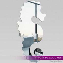 Miroir Plexiglass Acrylique - Hippocampe