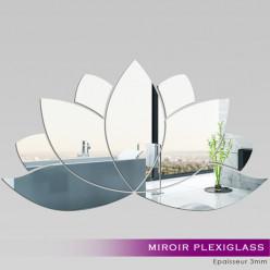 Miroir Plexiglass Acrylique -  Nénuphar 1