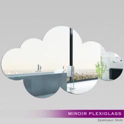 Miroir Plexiglass Acrylique - Nuage 2