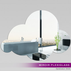 Miroir Plexiglass Acrylique - Nuage 3