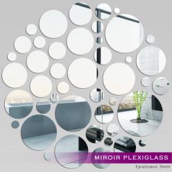 Miroir Plexiglass Acrylique - Points en folie