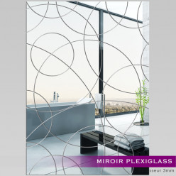 Miroir Plexiglass Acrylique - Rectangle design