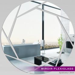 Miroir Plexiglass Acrylique - Rond destructuré