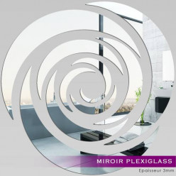 Miroir Plexiglass Acrylique - Rose Design