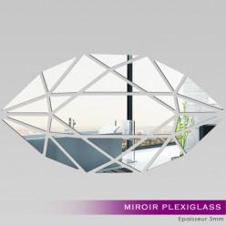 Miroir Plexiglass Acrylique -  Verticale Mosaïque