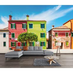 Papier peint maisons