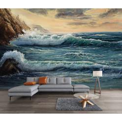 Papier peint mer