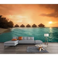 Papier peint plage paradisiaque