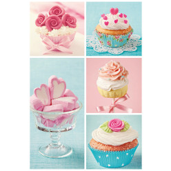 Poster - Affiche bonbons cupcakes gourmandise
