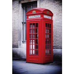 Poster - Affiche cabine téléphonique anglaise londres