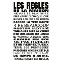 Poster - Affiche citation les règles de la maison