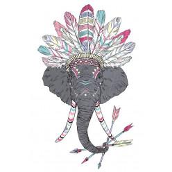 Poster - Affiche éléphant indien hipster