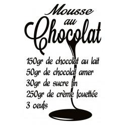 Poster - Affiche recette mousse au chocolat