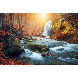 Poster - Affiche rivière cascade