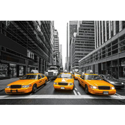 Poster - Affiche taxis new york