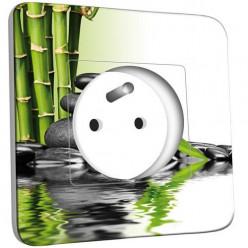 Prise décorée - Bambou 2