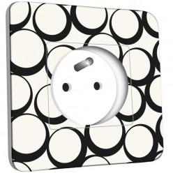 Prise décorée -  Design Ronds Black&White