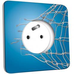 Prise décorée - Football Bleu