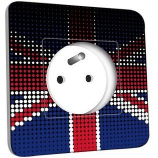 Prise décorée - Motif Drapeau Anglais Design Zoom